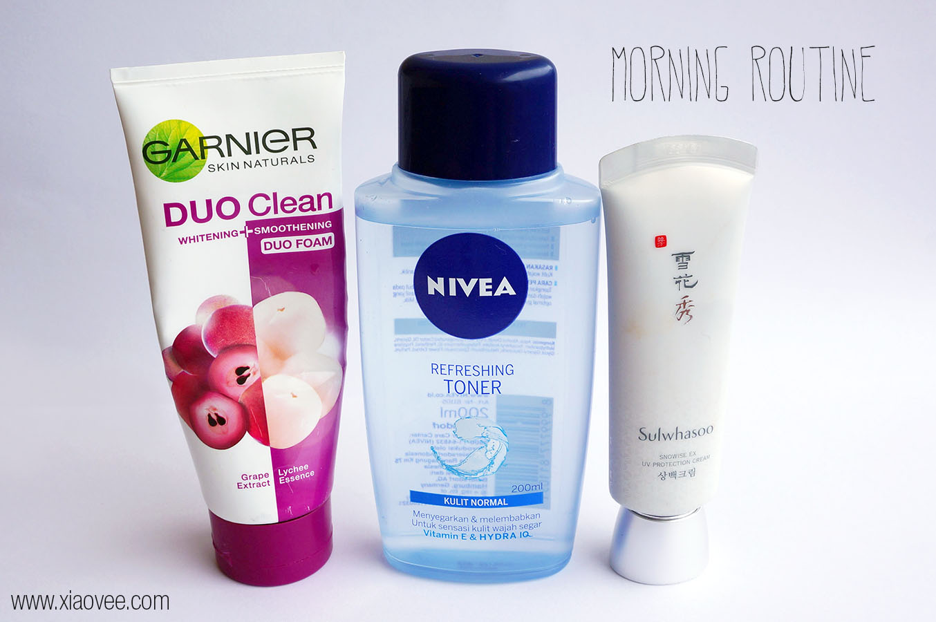 Morning Skin care routine for normal combination skin type, Morning Skin care product for normal combination skin type,