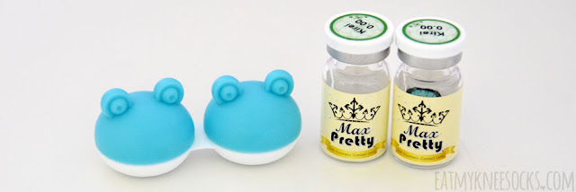 The I.Fairy/Vassen Kirei Green circle lenses from Love Shoppingholics came with a cute frog animal lens case.
