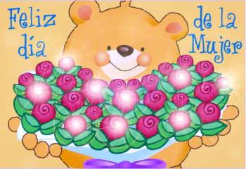 Feliz Día de la Mujer con flores