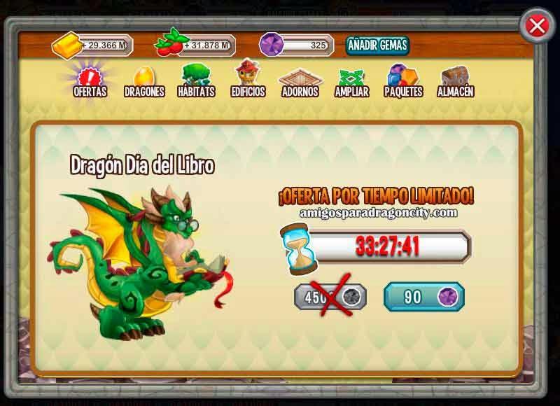 imagen de la oferta del dragon dia libro por 90 gemas