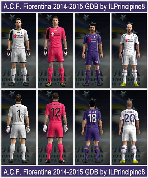 Update PES 2013 A.C.F. Fiorentina 2015 Kits