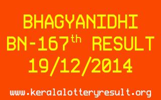 BHAGYANIDHI Lottery BN-167 Result 19-12-2014