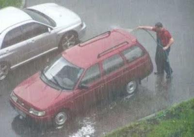 smiješne slike auto kiša