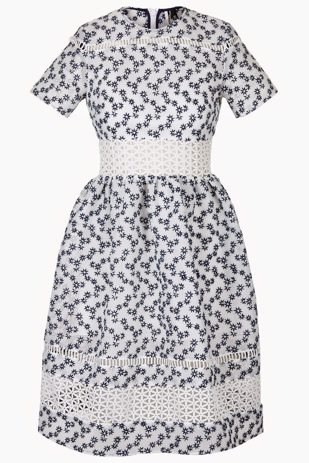 white blue flower print dress, white waisted flower dress,