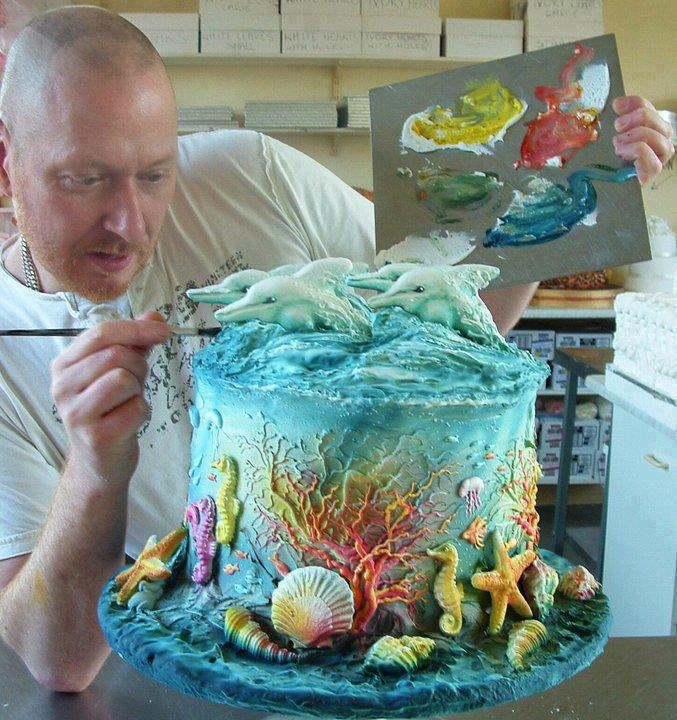 Amazing Cake Artist : Artistic Land : Dolphin Cake. Awesome Creativity! Its Yummy!