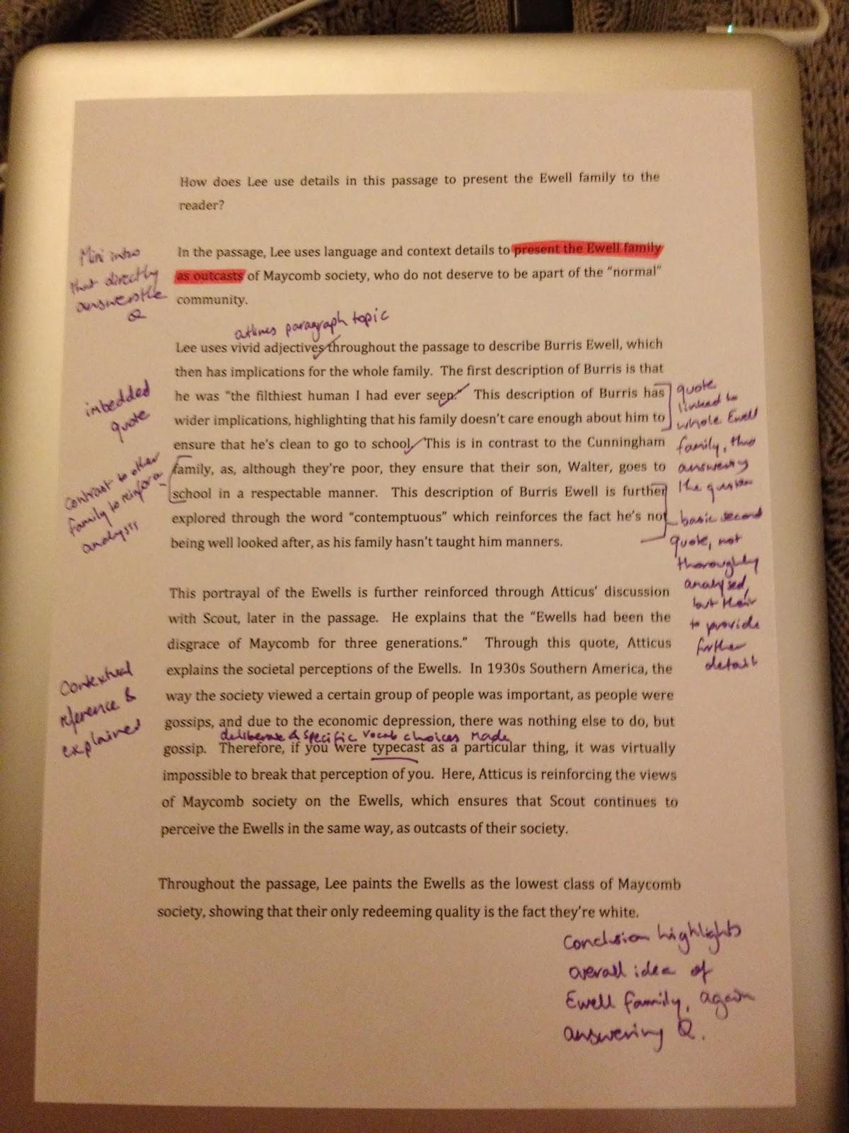 to kill a mockingbird trial essay