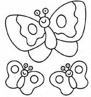 Moldes para feltro de borboleta