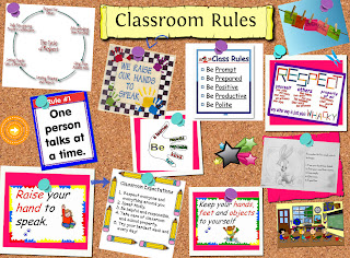 On the first day of school we discussed about our classroom's rules.