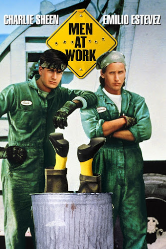 Poster Of Men at Work (1990) In Hindi English Dual Audio 100MB Compressed Small Size Mobile Movie Free Download Only At worldfree4u.com