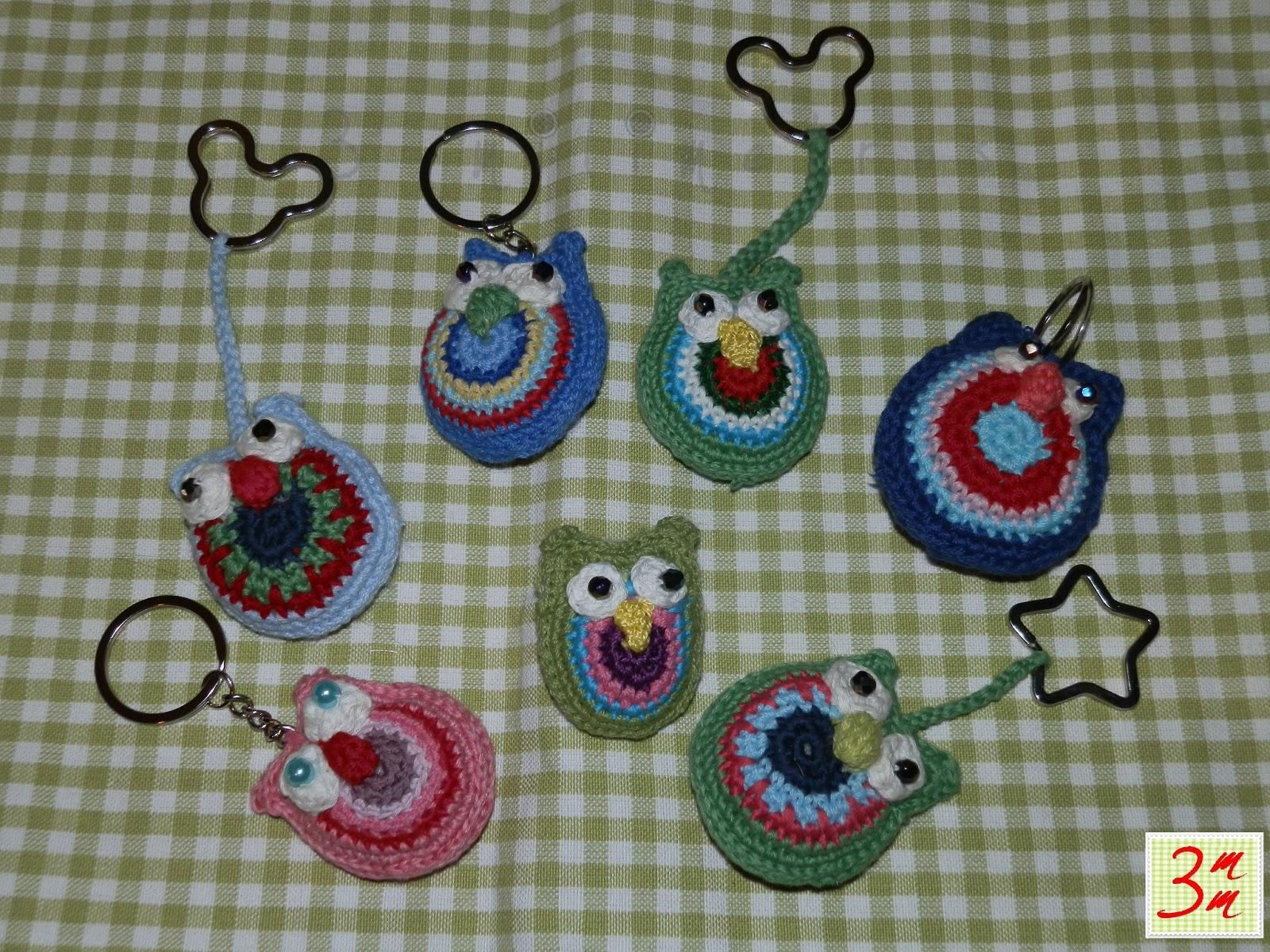 3mm (3 milímetros): Buhos de crochet