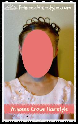 Princess Tiara Hairstyle Tutorial
