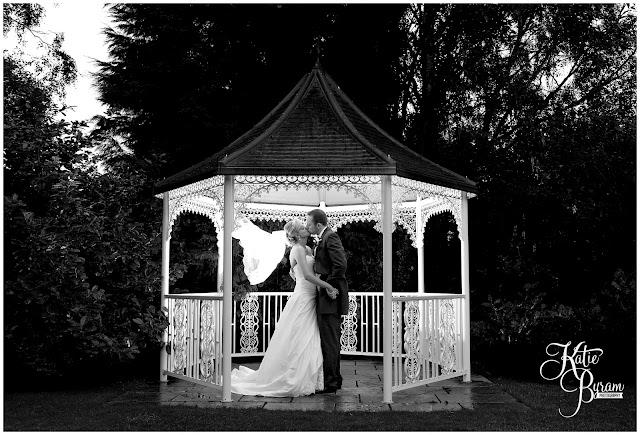 crook hall wedding, off camera flash, gazebo wedding, outdoor wedding, katie byram photography
