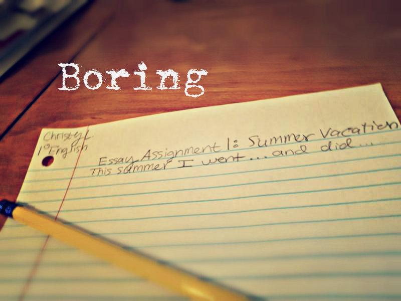a boring essay