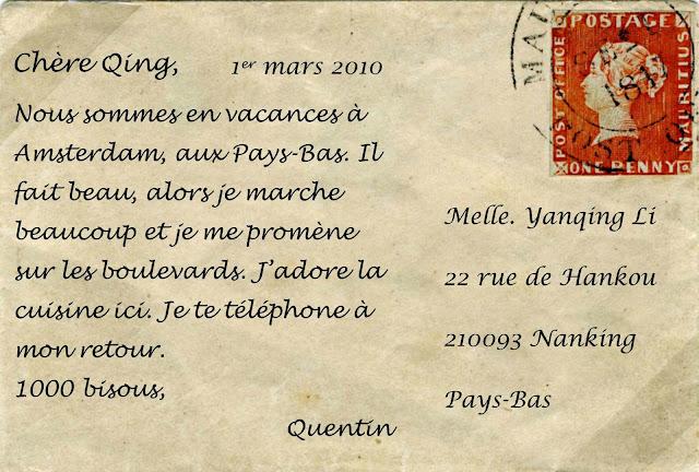 Exceptionnel Le destin des vers en français.: Sais -tu écrire une carte postale? KX17