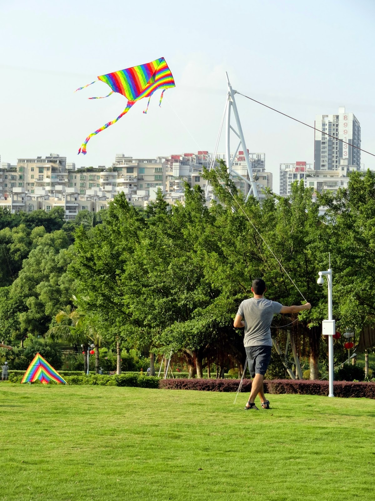 Flying Kites in China