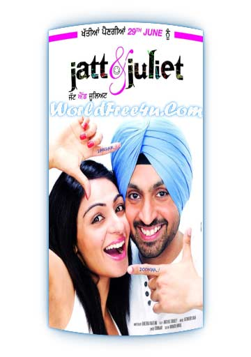 Poster Of Jatt and Juliet (2011) In 300MB Compressed Size PC Movie Free Download At worldfree4u.com