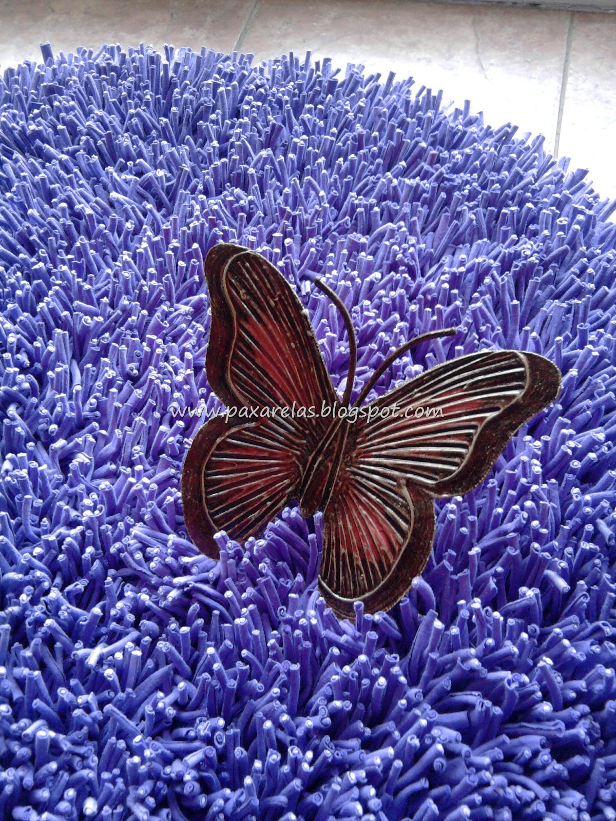 Alfombra Circular Violeta Lisa