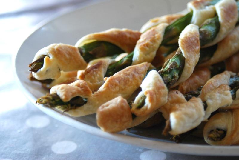 asparagi pasta sfoglia salata