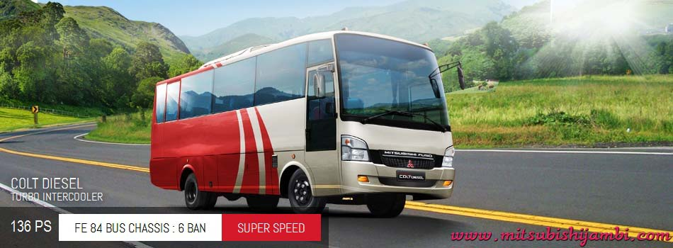 Mitsubishi Colt Diesel Bus FE 84 BC 136 PS Jambi