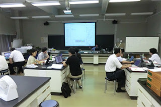 前回(GIS講習会2012)の中級コースの一コマ