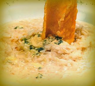 Risotto al queso gorgonzola
