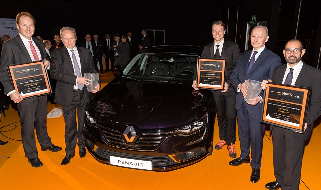 Renault giành 3 giải thưởng ô tô uy tín
