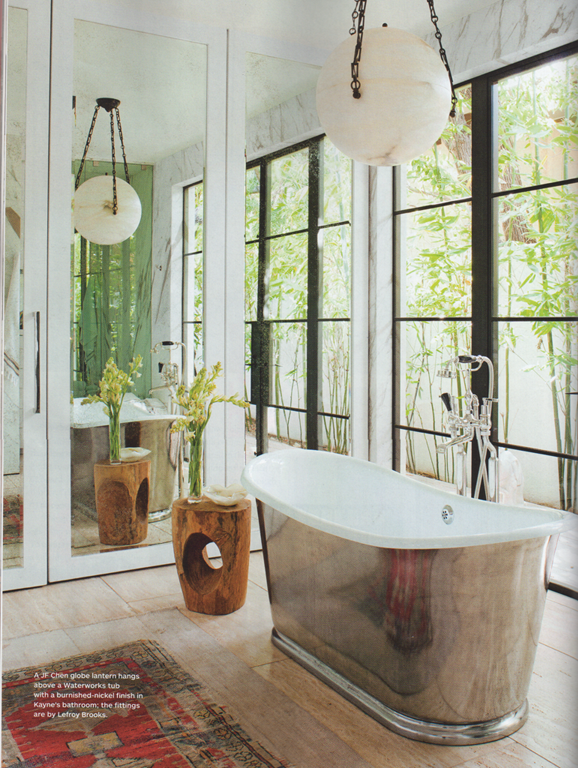 Alive kicking architectural digest home of jenni kayne for Architectural digest bathroom ideas