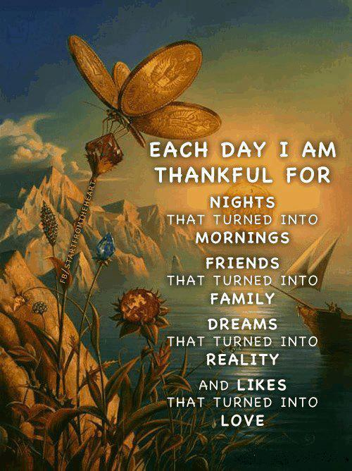 Quotes About Friends Turned Family : Thankful quotes for friends and family each day i am