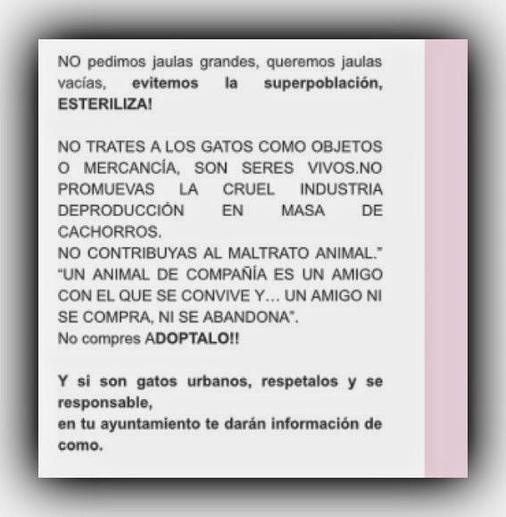 NO QUEREMOS JAULAS GRANDES, QUEREMOS JAULAS VACIAS