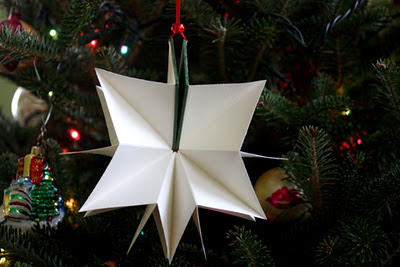Book Christmas tree ornament