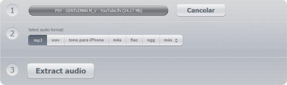 Extrae el audio de archivos de video con Audio Extractor