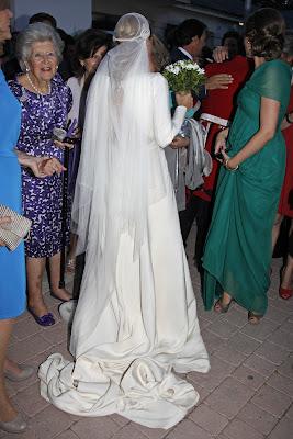 Vestido de novia de Leticia Calderon, heredado de su abuela y adaptado por Navascues