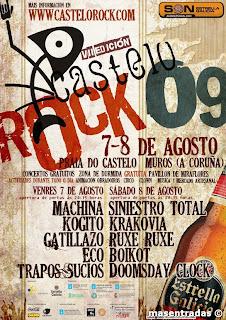 entrada festival castelorock 2009