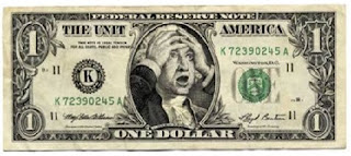 George Washington shocked Dollar bill custom