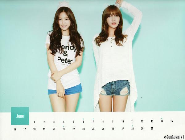 Apink calendar 2015 scans Naeun, Hayoung