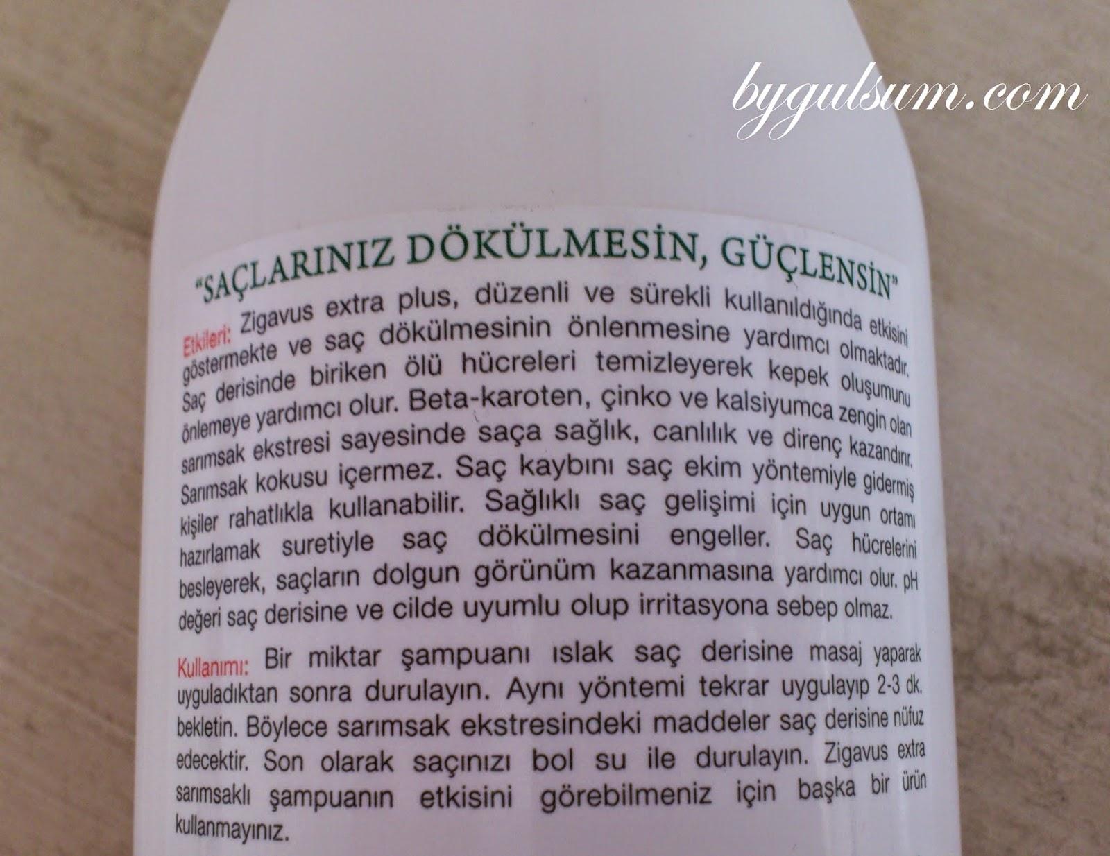 Zigavus Sarımsaklı Şampuan