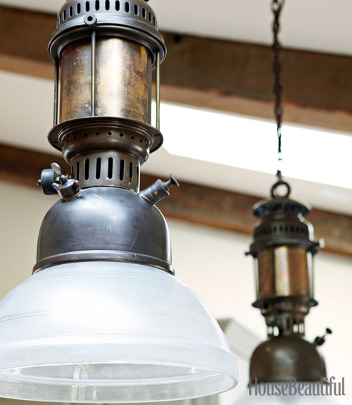 Mix and chic a rustic industrial kitchen in napa valley for Rustic industrial kitchen lighting