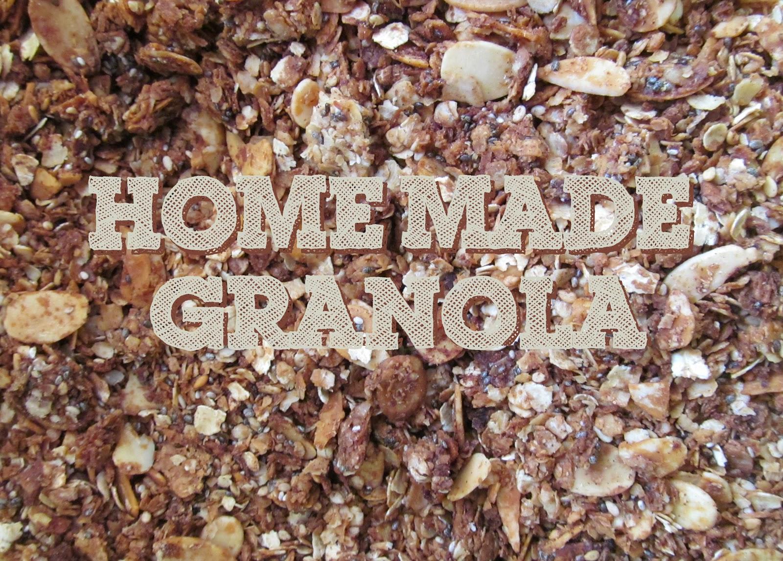 Ala's Kunterbungt - selbst gemachtes Granola Müsli