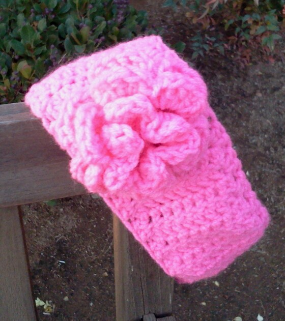 Sincerely, Ree: Crochet Flower Ear Warmer