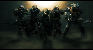 Halo Reach Noble Team Soldier Weapon Video Game HD Wallpaper Desktop PC Background