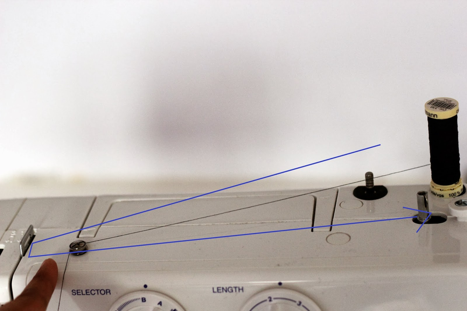 Winding guide sewing machine