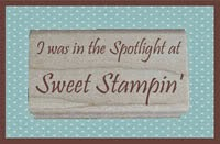 I was spotlighted at Sweet Stampin
