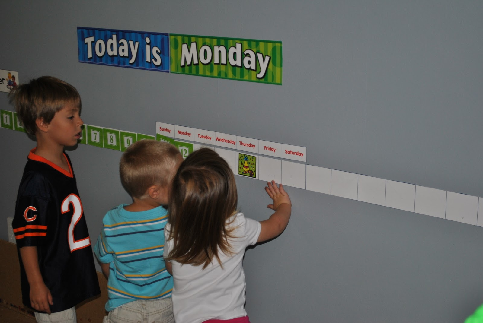 Linear Calendar In Kindergarten : Play counts the deconstructed calendar