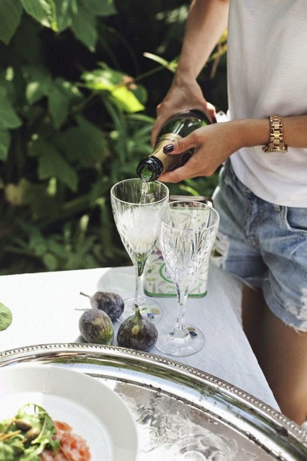 Refresque-se com champagne