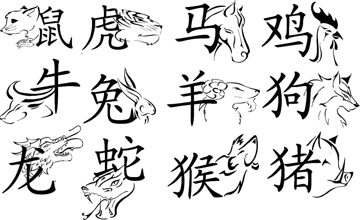 Chinese Zodiac Sign Tattoos