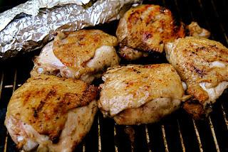 poulet à l'estragon grillé, maïs, crème
