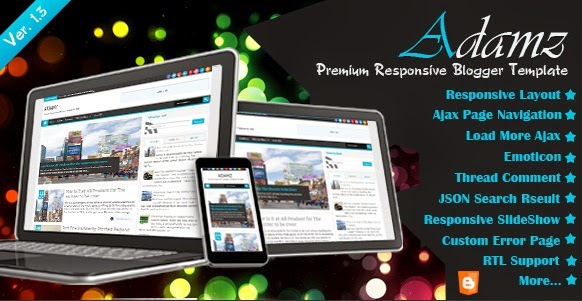 Adamz Responsive Free Download blogger Template | Blogger Template