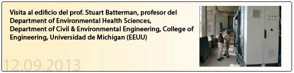 Visita al edificio del prof. Stuart Batterman, profesor del Department of Environmental Health Sciences,  Department of Civil & Environmental Engineering, College of Engineering, Universidad de Michigan (EEUU)