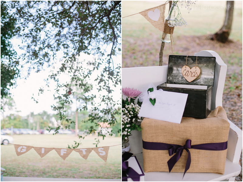 gifts burlap bunting banner wedding photography