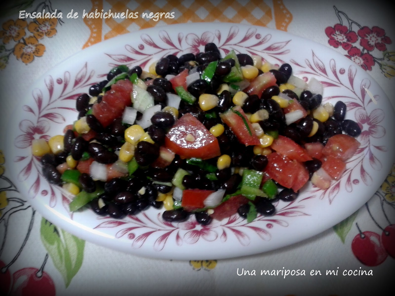 Ensalada de alubias negras recetas de cocina - Ensalada de alubias ...